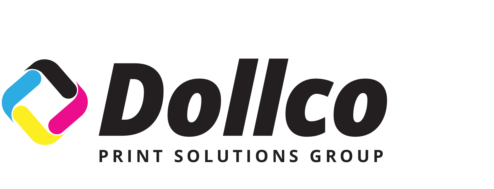 Dollco Print Solutions Group, Black Logo, Web Press Printing, Magazine Printing, Catalogue Printing, US, Canada