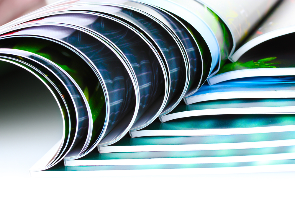 Web press magazine printing